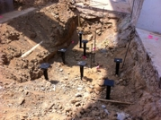 New construction helical piles