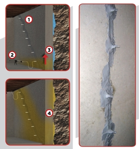 Crack repair process