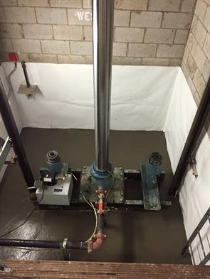 Elevator pit waterproofing with xypex