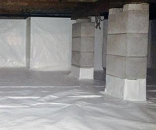 Crawl Space Waterproofing - Encapsulation
