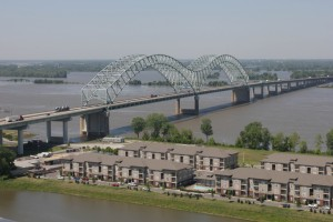 Mississippi River has already crested the Arkansas banks and running to the levees