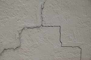 Cracks in sheetrock of house