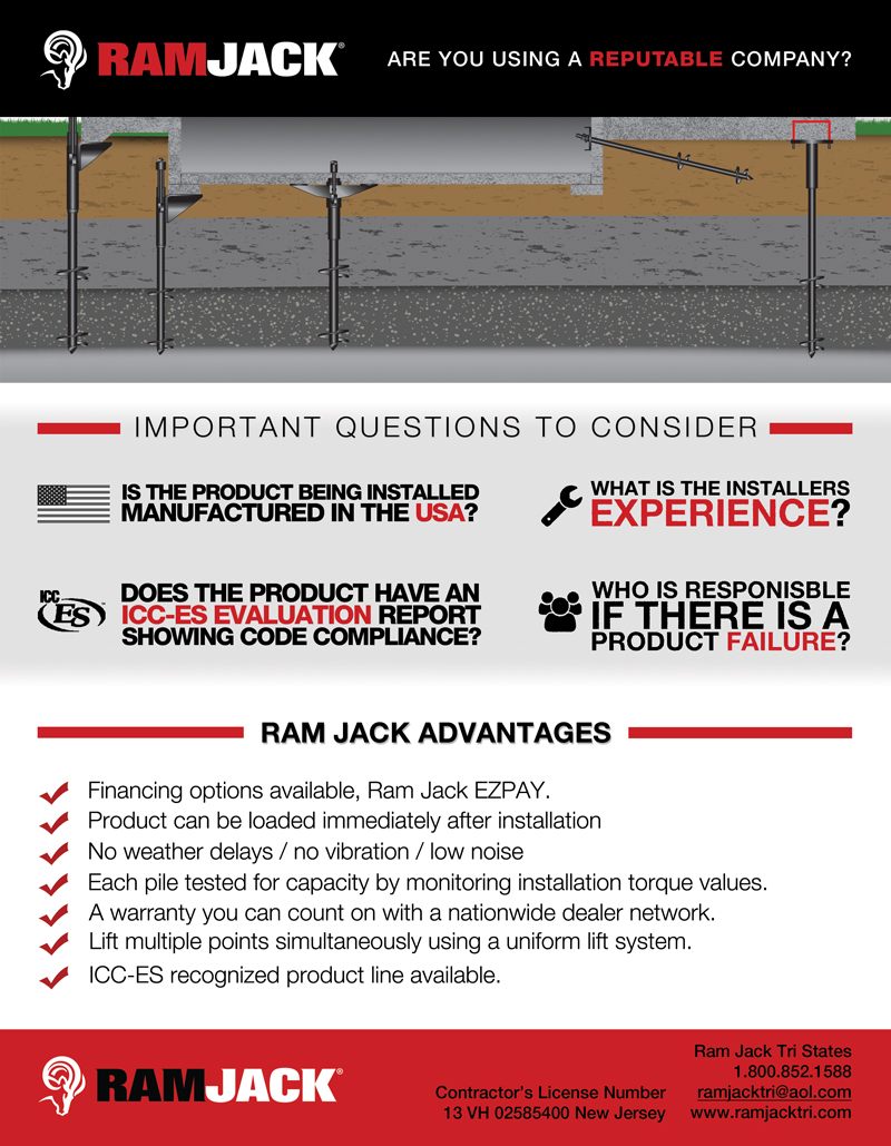 Foundation infographic: Advantages of Ram Jack