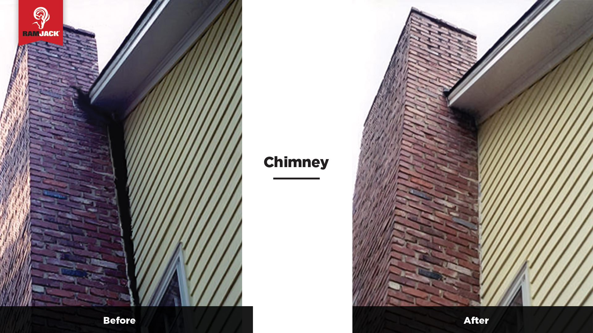 Before & after chimney repair