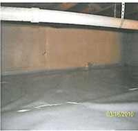 Completed, clean crawlspace