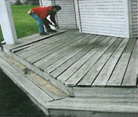 Man fixing deck