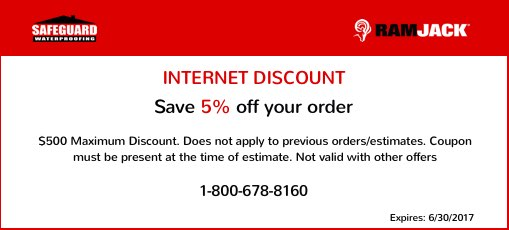 Waterproofing in Chicago, IL coupon