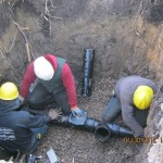 Cast iron pipe installation