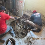Finding the main sewer line