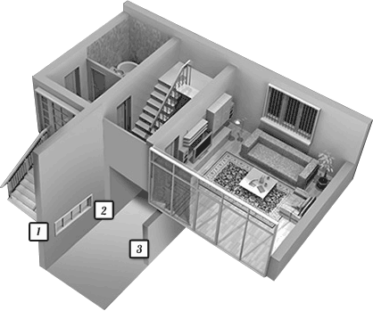 Diagram of basement foundation problems