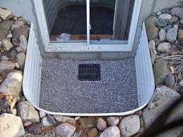 Basement window below soil level
