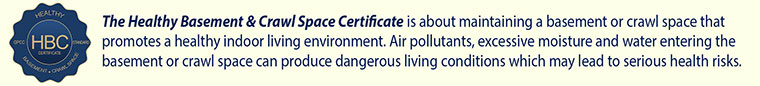 The Healthy Basement & Crawl Space Certificate