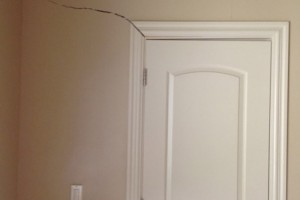 Crack above door frame