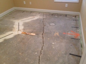Cracked floor foundation