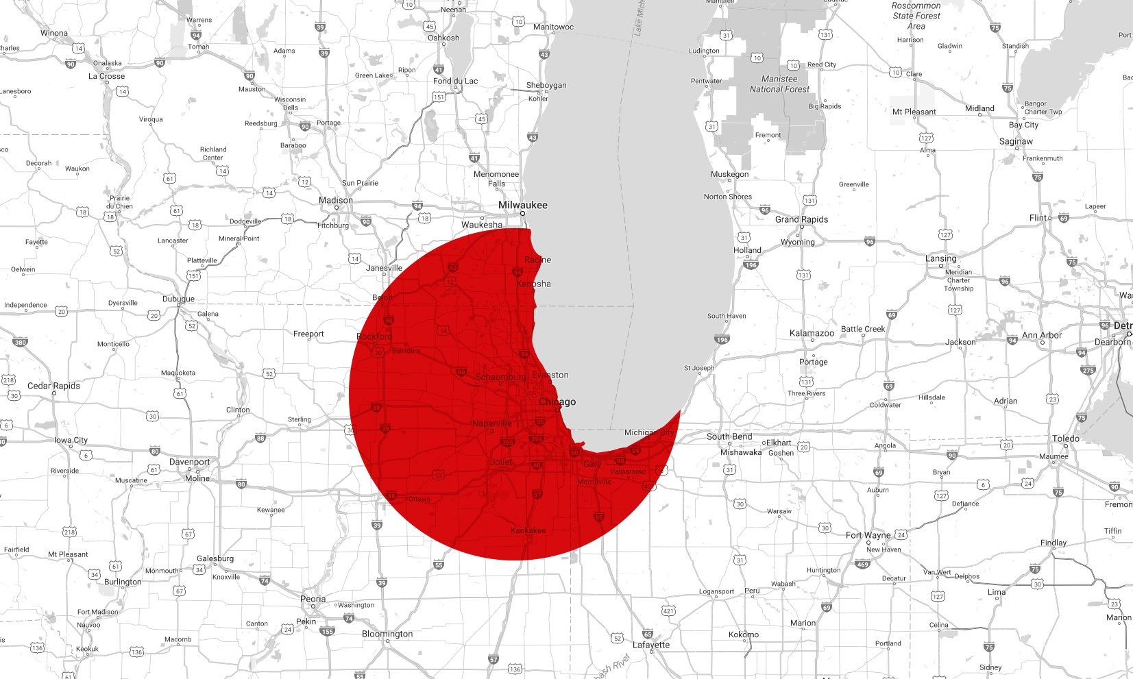 Ram Jack map service area