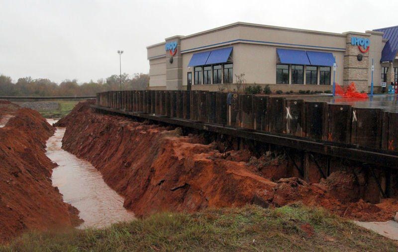 Meridian IHOP Saved from Sinkhole with Ram Jack Helical Piles