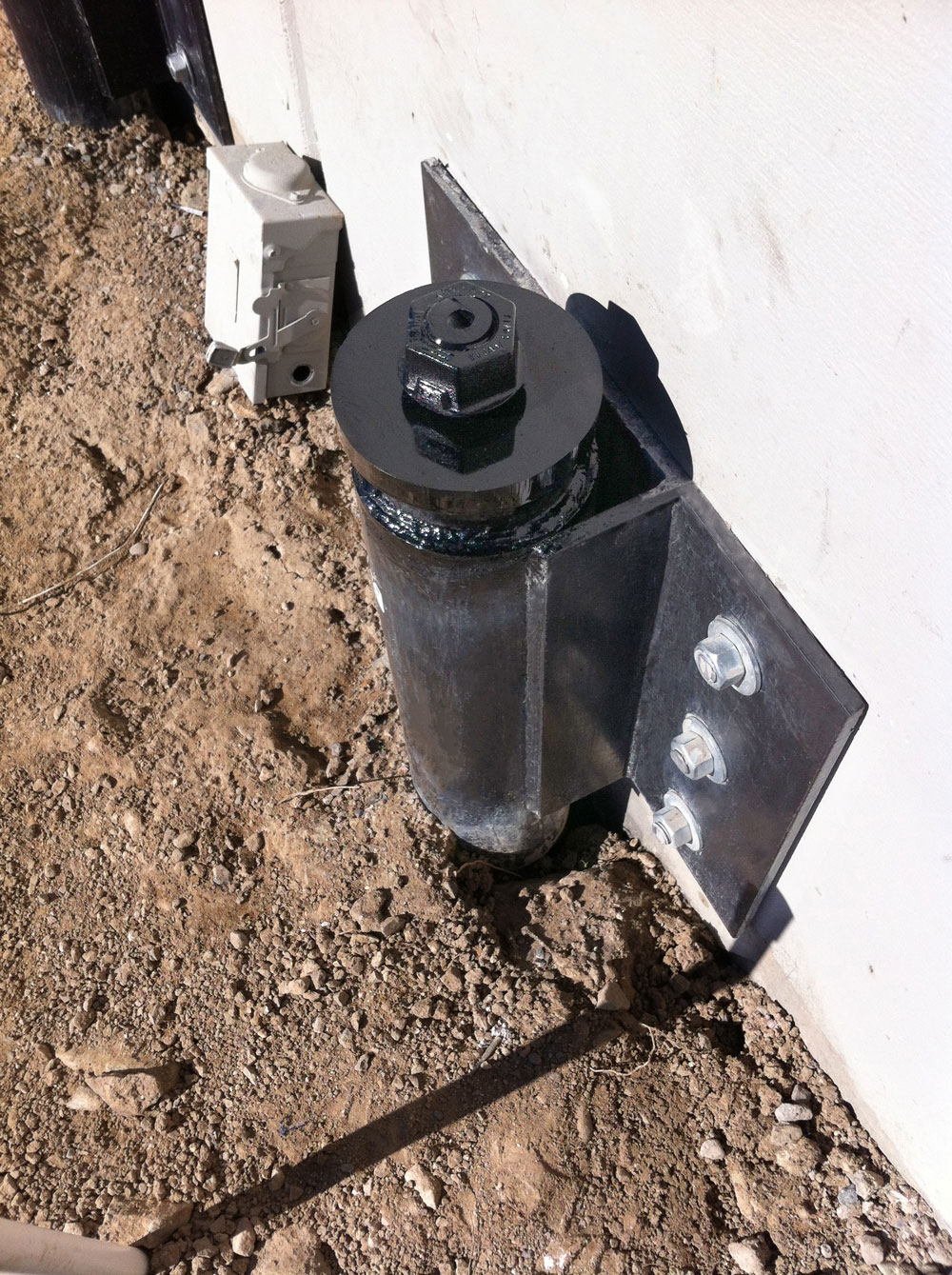 Seismic Retrofit - Custom Micropile Brackets