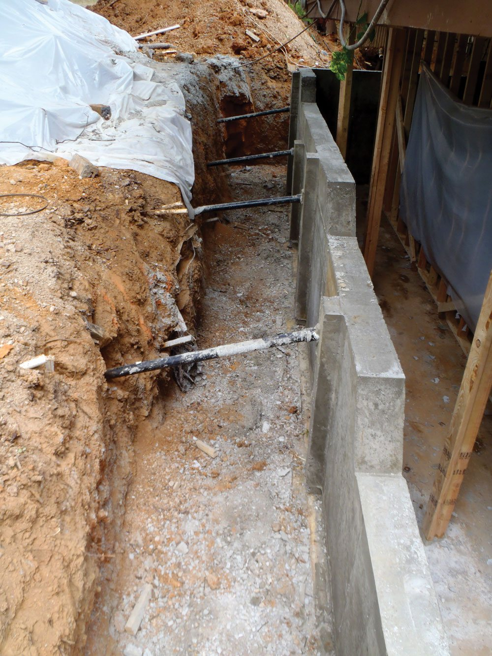 Foundation & Retaining Wall Recovery