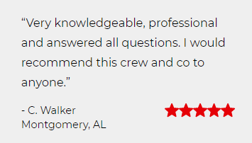 """Very knowledgeable, professional and answered all questions"". Five star review by C. Walker."